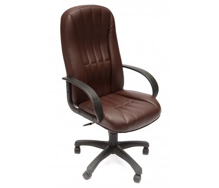 Компьютерное кресло CH767 коричневое из экокожиКомпьютерные кресла<br>-Кресло CH767 идеально подойдет людям, которые проводят много времени за компьютером и чувствуют напряжение в спине<br> <br>-Система повышенной эргономичности фиксирует положение спины в правильном положении, что позволяет позвоночнику испытывать наименьшее напряжение даже при длительных нагрузках<br> <br>- Материал крестовины: Пластик<br>  <br>  - Материал обивки: Экокожа<br> <br>  - Материал подлокотников: Пластик<br> <br>  - Механизм качания:с фиксацией в крайних положениях<br> <br>  - Подголовник: Без подголовника.<br>
