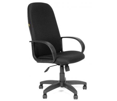 Компьютерное кресло Chairman 279 TW-11 черныйКомпьютерные кресла<br>Широкий выбор современных обивочных материалов и цветовых решении позволит с легкостью подобрать подходящую к Вашему интерьеру модель кресла 279. <br> Комплектация: <br> <br> <br>  - механизм регулировки кресла по высоте;<br> <br>  - механизм наклона и фиксации кресла в рабочем положении;<br> <br>  - механизм регулировки жесткости качания; <br>    <br>   <br>    - материал подлокотников пластик;<br>   <br>    - материал крестовины пластик.<br>   <br> <br> <br> <br>  <br> <br> <br>Кресло поставляется в разобранном виде.<br>