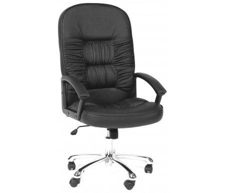 Компьютерное кресло Chairman 418 экокожаКомпьютерные кресла<br>Материал подлокотников: пластик с накладками из экокожи.<br><br>Материал крестовины: хромированный металл.<br><br>Материал обивки: экокожа.<br><br>Механизм качания: есть.<br>