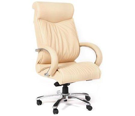 Компьютерное кресло Chairman 420 бежевыйКомпьютерные кресла<br>Офисное кресло CH 420 - одно из самых ярких и популярных моделей руководительских кресел. Спинка c выраженной поясничной зоной и мягким подголовником позволяет пользователю принять правильное положение и почувствовать себя в кресле особенно комфортно. <br>Кресло изготовлено из натуральной кожи.<br> <br>Объем упаковки -0,34 куб. м.<br> <br>Вес - 31,5 кг. <br>  <br>  <br>   <br>    <br>   <br> <br>  Кресло поставляется в разобранном виде.<br>