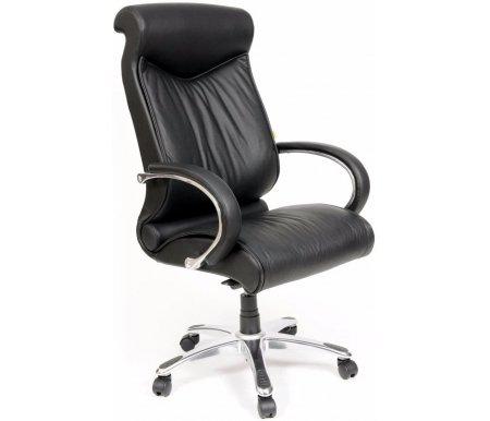 Компьютерное кресло Chairman 420 черныйКомпьютерные кресла<br>Офисное кресло CH 420 - одно из самых ярких и популярных моделей руководительских кресел. Спинка c выраженной поясничной зоной и мягким подголовником позволяет пользователю принять правильное положение и почувствовать себя в кресле особенно комфортно. <br>Кресло изготовлено из натуральной кожи.<br> <br>Объем упаковки -0,34 куб. м.<br> <br>Вес - 31,5 кг. <br>  <br>  <br>   <br>    <br>   <br> <br>  Кресло поставляется в разобранном виде.<br>