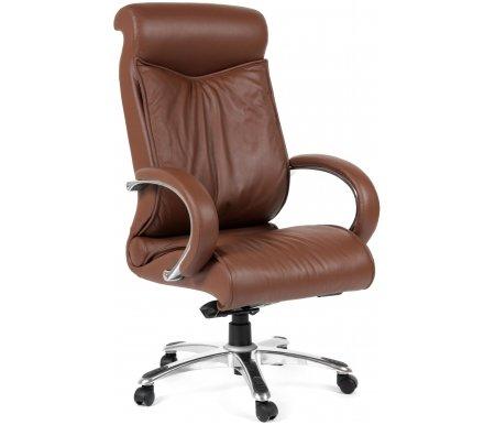 Компьютерное кресло Chairman 420 коричневыйКомпьютерные кресла<br>Офисное кресло CH 420 - одно из самых ярких и популярных моделей руководительских кресел. Спинка c выраженной поясничной зоной и мягким подголовником позволяет пользователю принять правильное положение и почувствовать себя в кресле особенно комфортно. <br>Кресло изготовлено из натуральной кожи.<br> <br>Объем упаковки -0,34 куб. м.<br> <br>Вес - 31,5 кг. <br>  <br>  <br>   <br>    <br>   <br> <br>  Кресло поставляется в разобранном виде.<br>