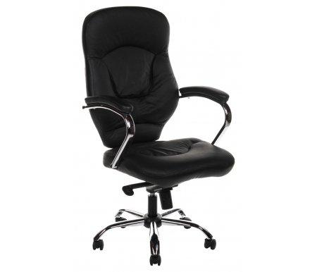 Компьютерное кресло Chairman 430 черноеКомпьютерные кресла<br>В представленной компьютерного кресла 430 присутствует механизм качания повышенной комфортности с возможностью фиксации кресла в рабочем положении. <br><br> <br>Материал подлокотников: металл с кожаными накладками.<br> <br>Материал крестовины: хромированный металл.<br> <br>Объем упаковки 0,22 куб. м.<br> <br>Вес 22,8 кг.<br>
