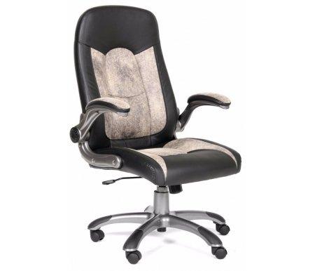 Компьютерное кресло Chairman 439 черный / бежевыйКомпьютерные кресла<br>Материал подлокотников: пластик с накладками из микрофибры.<br>Материал обивки: экокожа / микрофибра.<br><br>Механизм качания: есть.<br><br>Вес: 20,1 кг.<br>