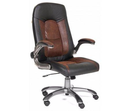 Компьютерное кресло Chairman 439 черный  / коричневыйКомпьютерные кресла<br>Материал подлокотников: пластик с накладками из микрофибры. <br>Материал обивки: экокожа / микрофибра.<br> <br>Механизм качания: есть.<br> <br>Вес: 20,1 кг.<br>