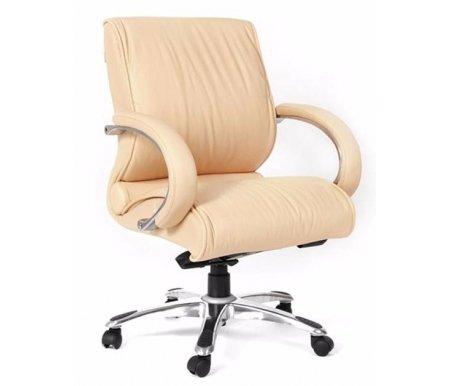Компьютерное кресло Chairman 444 бежевый (кремовый)Компьютерные кресла<br>Модель офисного кресла CH 444 можно назвать универсальной. Подходит для использования как в переговорных группах, так и в качестве кресла для руководителей, предпочитающих более компактные решения. <br>Комплектация:<br> <br>- рычаг регулировки кресла по высоте;<br> <br>- рычаг регулировки наклона с фиксацией;<br> <br>- винт регулировки жесткости качания. <br>  <br>  <br>  Кресло поставляется в разобранном виде.<br> <br>  Объем упаковки - 0,21 куб.м.<br> <br>  Вес - 28,4 кг.<br> <br>   <br>    <br>   <br> <br>  Кресло изготовлено из натуральной кожи.<br> <br>  Ве<br>