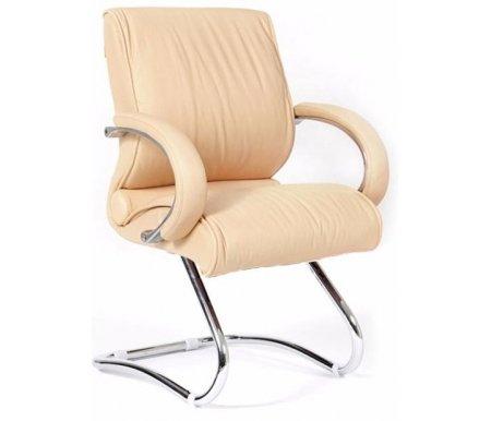 Компьютерное кресло Chairman 445 бежевое из натуральной кожиКомпьютерные кресла<br><br>