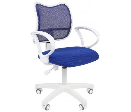 Купить Компьютерное кресло Chairman, Chairman 450 LT белый пластик TW-10 / TW-05 синее, Россия