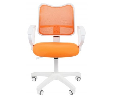 Купить Компьютерное кресло Chairman, Chairman 450 LT белый пластик TW-16 / TW-66 оранжевое, Россия