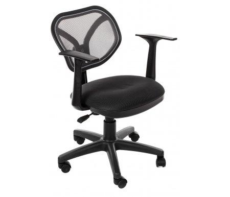 Компьютерное кресло Chairman 450 NEW  TW-04 / TW-12Компьютерные кресла<br>Офисное кресло СН 450 NEW - стильное современное кресло оператора с оригинальной спинкой, выполненной из сетчатого акрила. <br> <br>  Комплектация:<br> <br>  - механизм регулировки кресла по высоте;<br> <br>  - пружинный механизм постоянной поддержки спины;<br> <br>  - регулировка спинки по высоте.<br> <br>   <br>     <br>      <br>     Материал подлокотников: пластик<br>   <br>    Материал крестовины: пластик<br>   <br>    Материал обивки: ткань / сетчатый акрил<br>   <br> <br> <br> <br>  <br> <br> <br>Кресло поставляется в разобранном виде.<br>