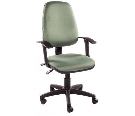 Компьютерное кресло Chairman 661 15-158Компьютерные кресла<br>Эргономичная спинка офисного кресла CH 661 с изменяемым углом наклона повторяет форму спины и, в сочетании с прочными Т-образными подлокотниками, позволяет сохранить правильное положение при сидении. Также спинка фиксируется в любом желаемом положении, что очень важно при длительной статичной работе. Обивка кресла – полиэстер. Это легкое быстросохнущее и износостойкое синтетическое волокно, которое прекрасно сохраняет форму, устойчиво к световому и тепловому воздействию. <br><br><br>Материал подлокотников: пластик.<br><br>Материал крестовины: пластик.<br><br>Вес 12,7 кг.<br><br> <br>  <br> <br> <br>Стул поставляется в разобранном виде.<br>