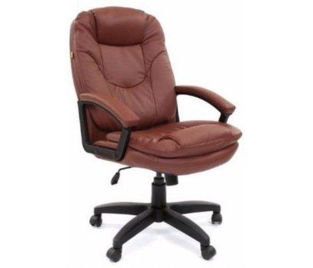 Компьютерное кресло Chairman 668 LT черный пластик коричневоеКомпьютерные кресла<br>Компьютерное кресло 668 LT комплектуется: <br>- механизмом регулировки кресла по высоте;<br> <br>- регулировкой наклона с фиксацией;<br> <br>- механизмом регулировки жесткости качания. <br>  <br> Материал крестовины: черный пластик<br> <br> <br>  Материал подлокотников: пластик с накладками из экокожи<br> <br>  Материал обивки: экокожа<br>