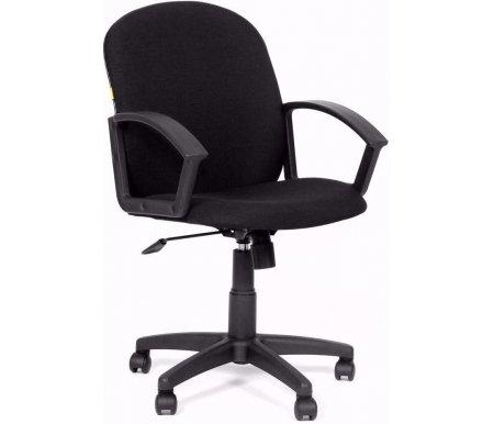 Компьютерное кресло Chairman 681 Черная тканьКомпьютерные кресла<br>Кресло CH 681 комплектуется: <br>- механизмом регулировки кресла по высоте;<br> <br>- механизмом наклона и фиксации кресла в рабочем положении;<br> <br>- механизмом регулировки жесткости качания.<br> <br> <br>  <br> <br> <br>Кресло поставляется в разобранном виде.<br>
