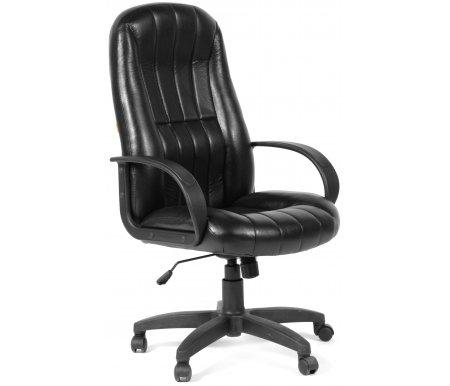 Компьютерное кресло Chairman 685 Черное эко-кожаКомпьютерные кресла<br>Отличительной чертой офисного кресла CH 685 являются ярко выраженная область поясничной поддержки и продольные рельефы на спинке и сидении кресла. Эргономичные формы, практичные материалы и возможность использования ее как в классических, так и современных интерьерах делают модель привлекательной для руководителей, ценящих надежность, удобство и функциональность рабочего места. Широкий спектр современных обивочных материалов этой модели позволяет успешно решать задачи сочетаемости с самыми разнообразными интерьерными разработками. <br><br><br>Материал подлокотников: пластик.<br><br>Материал крестовины : пластик.<br><br>Материал обивки: ткань.<br><br> <br>  <br> <br> <br>Кресло поставляется в разобранном виде.<br>