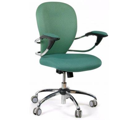 Компьютерное кресло Chairman 686 темно-зеленое V398-14 / V398-43Компьютерные кресла<br>Механизмом регулировки жесткости качания: есть.<br><br>Материал подлокотников: металл с накладками из ткани.<br><br>Материал крестовины: хромированный металл.<br><br>Механизм качания: есть.<br><br>Объем упаковки: 0,15 куб. м.<br><br>Вес: 18,5 кг.<br>
