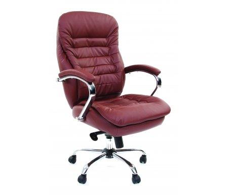 Компьютерное кресло Chairman 795 экокожа коричневаяКомпьютерные кресла<br>В представленной модели компьютерного кресла 795 присутствует механизм качания повышенной комфортности с возможностью фиксации в нескольких положениях. <br> <br>  Материал подлокотников: металл с кожаными накладками.<br> <br>  Материал крестовины : хромированный металл.<br>