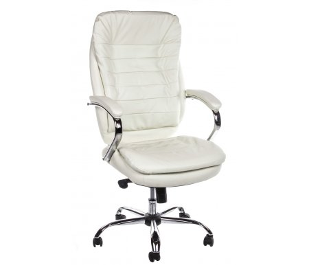 Компьютерное кресло Chairman 795 кожа белаяКомпьютерные кресла<br>В представленной модели компьютерного кресла 795 присутствует механизм качания повышенной комфортности с возможностью фиксации в нескольких положениях.<br><br>  Материал подлокотников: металл с кожаными накладками.<br><br>  Материал крестовины : хромированный металл.<br>
