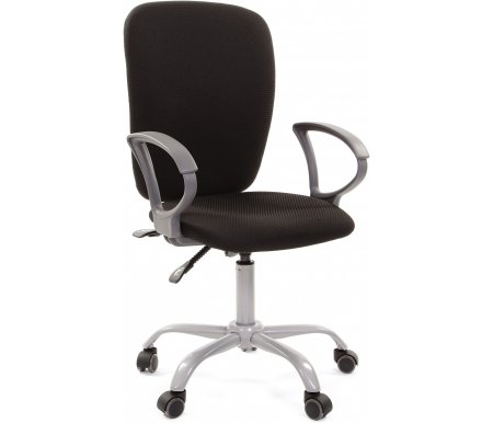 Компьютерное кресло Chairman 9801 черное JP 15-2Компьютерные кресла<br>Кресло поставляется в разобранном виде.<br><br>Материал подлокотников:пластик.<br><br>Материал крестовины:металл с напылением под серебро.<br><br>Материал обивки: ткань.<br><br>Механизм качания: есть.<br><br>Вес:15,5 кг.<br>