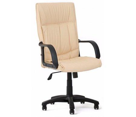 Компьютерное кресло «Давос» (Davos) бежевоеКомпьютерные кресла<br>Кресло «Давос» идеально подходит для ценителей комфорта и эстетики.<br> <br>Мягкие подушки из искусственной кожи нескольких цветов и лаконичный силуэт подчеркивает вкус обладателя этого кресла.<br> <br>Материал крестовины: пластик.<br> <br>Материал подлокотников: пластик.<br> <br>Механизм качания: есть.<br> <br>Механизм обивки: экокожа.<br>