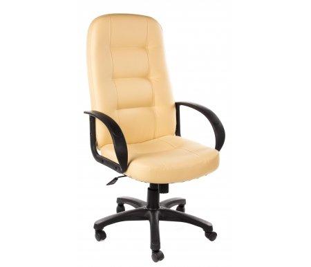 Компьютерное кресло «Девон» (Devon) бежевоеКомпьютерные кресла<br>-Кресло «Девон» идеально подходит людям, которые проводят много времени за компьютером и чувствуют напряжение в спине.<br> <br>  -Мягкое сидение и спинка позволяет достичь максимальное удовольствие и расслабление.<br> <br>  -Помимо повышенного комфорта, кресло поможет вам подчеркнуть Ваш вкус.<br> <br>  - Материал крестовины: Пластик<br> <br>  - Материал обивки: Экокожа<br> <br>  - Материал подлокотников: Пластик<br> <br>  - Механизм качания: с фиксацией в крайних положениях<br> <br>  - Подголовник: Без подголовника<br> <br> <br> <br>    <br>   <br> <br>Максимальная высота стула - 131 см.<br>