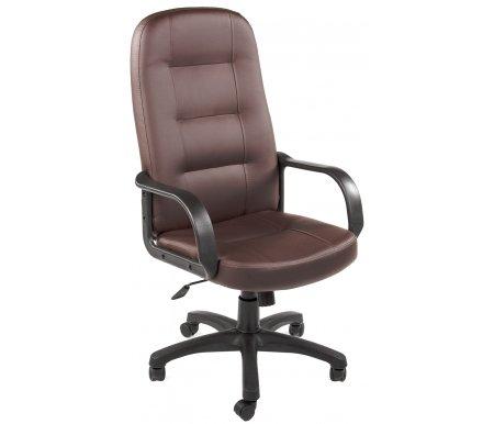 Компьютерное кресло «Девон» (Devon) коричневоеКомпьютерные кресла<br>-Кресло «Девон» идеально подходит людям, которые проводят много времени за компьютером и чувствуют напряжение в спине.<br> <br>  -Мягкое сидение и спинка позволяет достичь максимальное удовольствие и расслабление.<br> <br>  -Помимо повышенного комфорта, кресло поможет вам подчеркнуть Ваш вкус.<br> <br>  - Материал крестовины: Пластик<br> <br>  - Материал обивки: Экокожа<br> <br>  - Материал подлокотников: Пластик<br> <br>  - Механизм качания: с фиксацией в крайних положениях<br> <br>  - Подголовник: Без подголовника<br> <br> <br> <br>    <br>   <br> <br>Максимальная высота стула - 131 см.<br>
