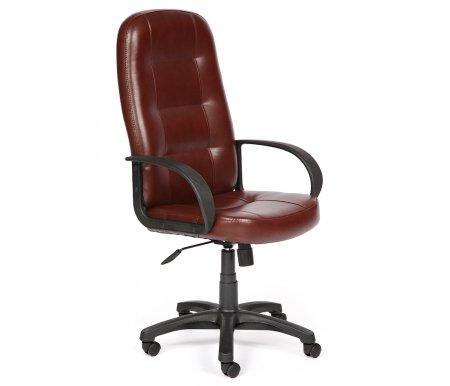 Компьютерное кресло «Девон» (Devon) коричневое 2 toneКомпьютерные кресла<br>-Кресло «Девон» идеально подходит людям, которые проводят много времени за компьютером и чувствуют напряжение в спине.<br> <br>  -Мягкое сидение и спинка позволяет достичь максимальное удовольствие и расслабление.<br> <br>  -Помимо повышенного комфорта, кресло поможет вам подчеркнуть Ваш вкус.<br> <br>  - Материал крестовины: Пластик<br> <br>  - Материал обивки: Экокожа<br> <br>  - Материал подлокотников: Пластик<br> <br>  - Механизм качания: с фиксацией в крайних положениях<br> <br>  - Подголовник: Без подголовника<br> <br> <br> <br>    <br>   <br> <br>Максимальная высота стула - 135 см.<br>