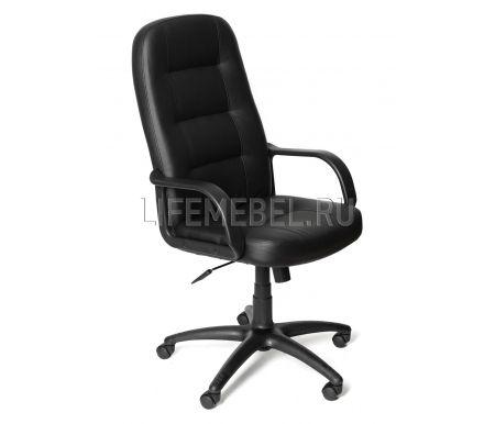 Компьютерное кресло «Девон» (Devon) черноеКомпьютерные кресла<br>-Кресло «Девон» идеально подходит людям, которые проводят много времени за компьютером и чувствуют напряжение в спине.<br> <br>  -Мягкое сидение и спинка позволяет достичь максимальное удовольствие и расслабление.<br> <br>  -Помимо повышенного комфорта, кресло поможет вам подчеркнуть Ваш вкус.<br> <br>  - Материал крестовины: Пластик<br> <br>  - Материал обивки: Экокожа<br> <br>  - Материал подлокотников: Пластик<br> <br>  - Механизм качания: с фиксацией в крайних положениях<br> <br>  - Подголовник: Без подголовника<br> <br> <br> <br>    <br>   <br> <br>Максимальная высота стула - 131 см.<br>