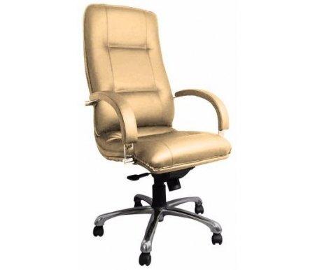 Компьютерное кресло Филадельфия бежевоеКомпьютерные кресла<br>Материал подлокотников: металл хромированный. <br>Материал крестовины: металл хромированный.<br>  <br>Максимальная высота кресла: 130 см.<br> <br>Материал обивки: кожа.<br>  <br><br>  Вес:25 кг.<br>