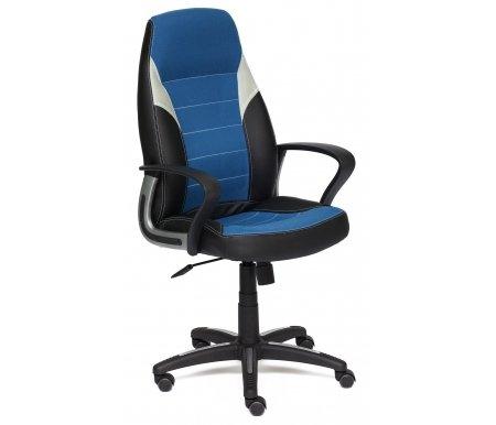 Купить Компьютерное кресло Тетчер, Inter 36-6 / С24 / 14 черное / синее / серое, Россия, черный / синий / серый
