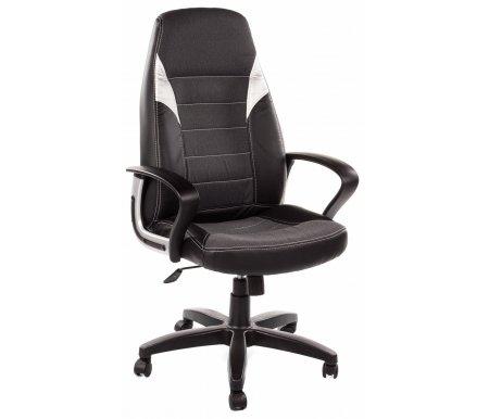 Компьютерное кресло «Интер» (Inter ST) черной крестовиойКомпьютерные кресла<br>Кресло «Интер» и«Интер СТ»идеально подходит людям, которые проводят много времени за компьютером и чувствуют напряжение в спине.<br>   <br>    Мягкое сидение и спинка позволяет достичь максимальное удовольствие и расслабление.<br>   <br>    Помимо повышенного комфорта, кресло поможет вам подчеркнуть Ваш вкус.<br>   <br>    Материал крестовины: пластик.<br>   <br>    Цвет крестовины: черный.<br>   <br>    Материал обивки: экокожа / ткань.<br>   <br>    Материал подлокотников: пластик.<br>   <br>    Механизм качания: с фиксацией в крайних положениях.<br>