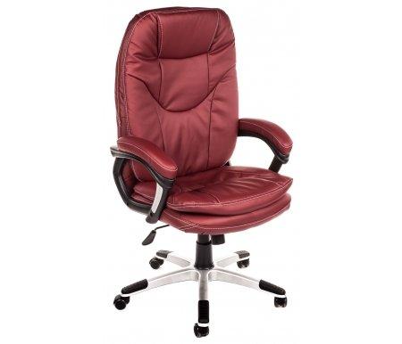 Компьютерное кресло «Комфорт» (Comfort) бордоКомпьютерные кресла<br>-Кресло «Комфорт» идеально подходит людям, которые проводят много времени за компьютером и чувствуют напряжение в спине.<br>   <br>    -Мягкое сидение и спинка позволяет достичь максимальное удовольствие и расслабление.<br>   <br>    -Помимо повышенного комфорта, кресло поможет вам подчеркнуть Ваш вкус.<br>   <br>    - Материал крестовины: Пластик<br>   <br>    - Материал обивки: Экокожа<br>   <br>    - Материал подлокотников: Пластик с накладками из экокожи<br>   <br>    - Механизм качания: с фиксацией угла наклона в любом положении<br>   <br>    - Подголовник: Без подголовника<br>   <br>    Максимальная высота стула - 133 см.<br>