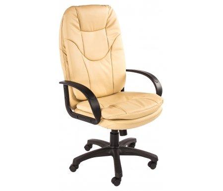 Компьютерное кресло «Комфорт СТ» (Comfort ST) бежевыйКомпьютерные кресла<br>-Кресло «Комфорт СТ» идеально подходит людям, которые проводят много времени за компьютером и чувствуют напряжение в спине.<br>   <br>    -Мягкое сидение и спинка позволяет достичь максимальное удовольствие и расслабление.<br>   <br>    -Помимо повышенного комфорта, кресло поможет вам подчеркнуть Ваш вкус.<br>   <br>    - Материал крестовины: Пластик<br>   <br>    - Материал обивки: Экокожа<br>   <br>    - Материал подлокотников: Пластик<br>   <br>    - Механизм качания: с фиксацией в крайних положениях<br>   <br>    - Подголовник: Без подголовника<br>   <br>    Максимальная высота - 137 см.<br>