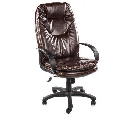 Компьютерное кресло «Комфорт СТ» (Comfort ST) коричневый-2Компьютерные кресла<br>-Кресло «Комфорт СТ» идеально подходит людям, которые проводят много времени за компьютером и чувствуют напряжение в спине.<br>   <br>    -Мягкое сидение и спинка позволяет достичь максимальное удовольствие и расслабление.<br>   <br>    -Помимо повышенного комфорта, кресло поможет вам подчеркнуть Ваш вкус.<br>   <br>    - Материал крестовины: Пластик<br>   <br>    - Материал обивки: Экокожа<br>   <br>    - Материал подлокотников: Пластик<br>   <br>    - Механизм качания: с фиксацией в крайних положениях<br>   <br>    - Подголовник: Без подголовника<br>   <br>    Максимальная высота - 137 см.<br>