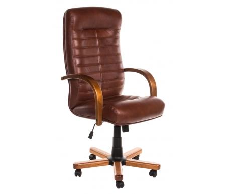 Компьютерное кресло Консул Экстра коричневый / светло коричневыйКомпьютерные кресла<br>Материал подлокотников: дерево. <br>Материал крестовины: дерево.<br> <br>Материал обивки: кожа.<br> <br>Вес: 25 кг.<br>