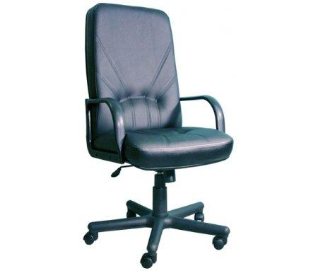 Компьютерное кресло Менеджер Стандарт черноеКомпьютерные кресла<br>Материал подлокотников: пластик. <br>Материал крестовины: пластик (цельнолитый).<br> <br>Материал обивки: кожзаменитель.<br> <br>Вес: 20 кг.<br>