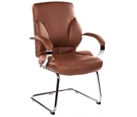 Компьютерное кресло Н-9582 L-3К коричневоеКомпьютерные кресла<br>Материал подлокотников: кожа.<br>Материал крестовины: хромированный металл.<br><br>Материал обивки: кожа первой категории с перфорированными вставками.<br><br>Механизм качания: есть.<br><br>Вес: 19 кг.<br>