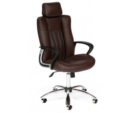 Купить Компьютерное кресло Тетчер, «Оксфорд» (Oxford) коричневая / экокожа, коричневый (36-36) / коричневый перфорированный (36-36/06)