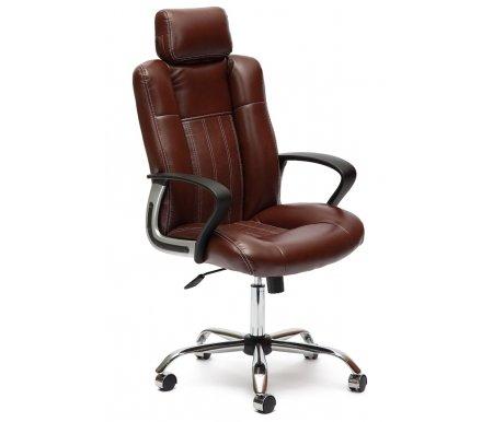 Компьютерное кресло Тетчер, «Оксфорд» (Oxford) коричневый 2 tone, коричневый (36-36) / коричневый перфорированный (36-36/06)  - Купить