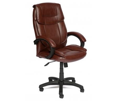 Купить Компьютерное кресло Тетчер, Oreon коричневое перфорированное 2 Tone кожзам, Россия, коричневый