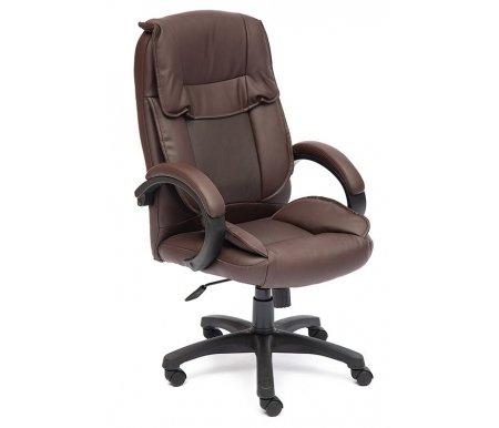 Купить Компьютерное кресло Тетчер, Oreon коричневое перфорированное 36-36 / 36-36 / 06 кожзам, Россия, коричневый