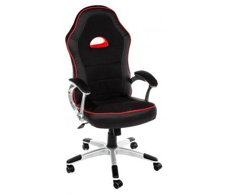 Компьютерное кресло «Пилот» (Pilot) черный / красныйКомпьютерные кресла<br>-Кресло «Пилот» идеально подойдет людям, которые проводят много времени за компьютером и чувствуют напряжение в спине.<br>   <br>    -Система повышенной эргономичности фиксирует положение спины в правильном положении, что позволяет позвоночнику испытывать наименьшее напряжение даже при длительных нагрузках.<br>   <br>    <br>   <br>    - Материал крестовины: Пластик<br>    <br>      - Материал обивки: Экокожа<br>     <br>      - Материал подлокотников: Пластик<br>     <br>      - Механизм качания: с фиксацией в крайних положениях<br>     <br>      - Подголовник: Без подголовника<br>     <br>      Максимальная высота стула - 138 см.<br>