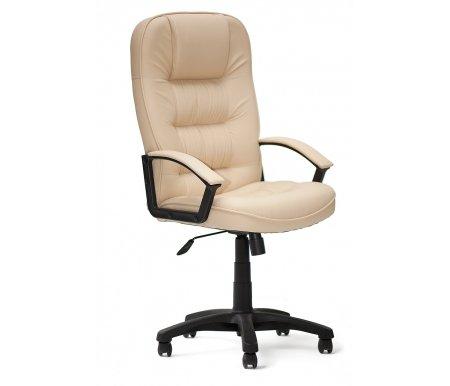 Компьютерное кресло пластик CH9944 бежевое из экокожиКомпьютерные кресла<br>-Кресло CH9944 пластик идеально подойдет людям, которые проводят много времени за компьютером и чувствуют напряжение в спине<br> <br>-Система повышенной эргономичности фиксирует положение спины в правильном положении, что позволяет позвоночнику испытывать наименьшее напряжение даже при длительных нагрузках<br> <br>- Материал крестовины: Пластик<br>  <br>  - Материал обивки: Экокожа<br> <br>  - Материал подлокотников: Пластик с накладками из экокожи, и накладками из кожи<br> <br>  - Механизм качания:с фиксацией в крайних положениях<br> <br>  - Подголовник: Без подголовника.<br> <br>  Максимальная высота - 132 см.<br>