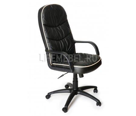 Компьютерное кресло «Поло» (Polo) черное 36-6Компьютерные кресла<br>-Кресло «Поло» идеально подойдет людям, которые проводят много времени за компьютером и чувствуют напряжение в спине<br> <br>-Система повышенной эргономичности фиксирует положение спины в правильном положении, что позволяет позвоночнику испытывать наименьшее напряжение даже при длительных нагрузках<br> <br>- Материал крестовины: Пластик<br> <br>- Материал обивки: Экокожа<br> <br>- Материал подлокотников: Пластик<br> <br>- Механизм качания: с фиксацией в крайних положениях<br> <br>- Подголовник: Без подголовника<br> <br>Максимальная высота - 132 см.<br>