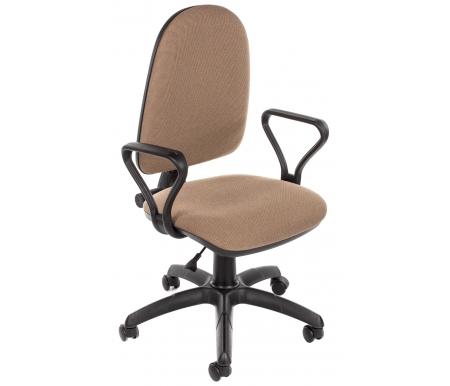 Компьютерное кресло Престиж бежевыйКомпьютерные кресла<br>Кресло оснащено механизмом качания и газлифтом BIFMA 5.1. <br><br>  Материал подлокотников: полипропилен.<br><br>  Материал крестовины: полиамид.<br><br>  Материал обивки: ткань.<br><br>  Объем: 0,1 м/куб.<br><br>  Вес: 8 кг.<br>