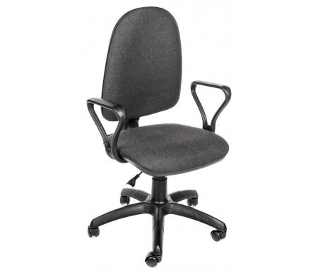 Компьютерное кресло Престиж серыйКомпьютерные кресла<br>Кресло оснащено механизмом качания и газлифтом BIFMA 5.1. <br> <br>  Материал подлокотников: полипропилен.<br> <br>  Материал крестовины: полиамид.<br> <br>  Материал обивки: ткань.<br> <br>  Объем: 0,1 м/куб.<br> <br>  Вес: 8 кг.<br>