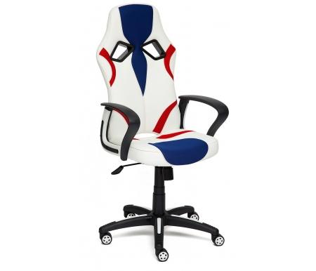 Купить Компьютерное кресло Тетчер, Runner 36-01 / 10 / 08 белое / синее / красное, Россия, белый / синий / красный
