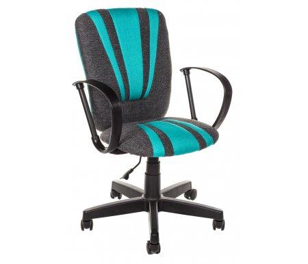 Компьютерное кресло «Спектрум» (Spectrum) серый / бирюзовый / тканьКомпьютерные кресла<br>Кресло «Спектрум» идеально подойдет людям, которые проводят много времени за компьютером и чувствуют напряжение в спине<br> <br>Система повышенной эргономичности фиксирует положение спины в правильном положении, что позволяет позвоночнику испытывать наименьшее напряжение даже при длительных нагрузках<br> <br><br> <br>Материал крестовины: пластик<br>  <br>  Материал обивки: ткань.<br> <br>  Материал подлокотников: пластик.<br>