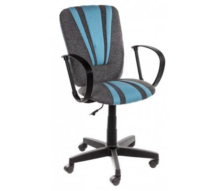 Купить Компьютерное кресло Тетчер, «Спектрум» (Spectrum) серый / голубой / ткань