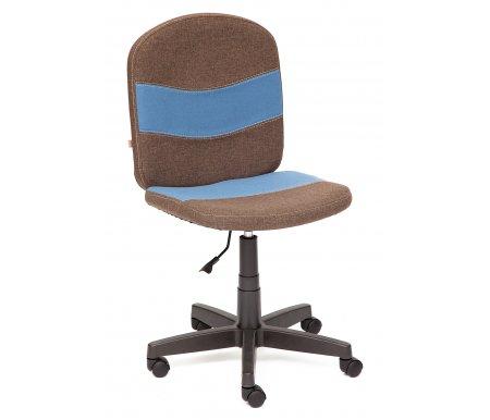 Купить Компьютерное кресло Тетчер, Step 3М7-147 / С24 коричневое / синее, Россия, коричневый / синий