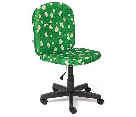 Компьютерное кресло Step (Стэп) ромашки на зеленомКомпьютерные кресла<br>- Материал крестовины: Пластик<br>   <br>    - Материал обивки: Ткань<br>   <br>    - Механизм качания: без механизма качания кресла<br>   <br>    - Подголовник: Без подголовника<br>   <br>    Максимальная высота - 103 см.<br>